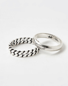 [TWOSIDE] Chain Silver Ring