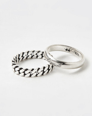 [TWOSIDE] Point Chain Silver Ring