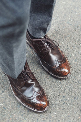 Shine Wingtip Shoes